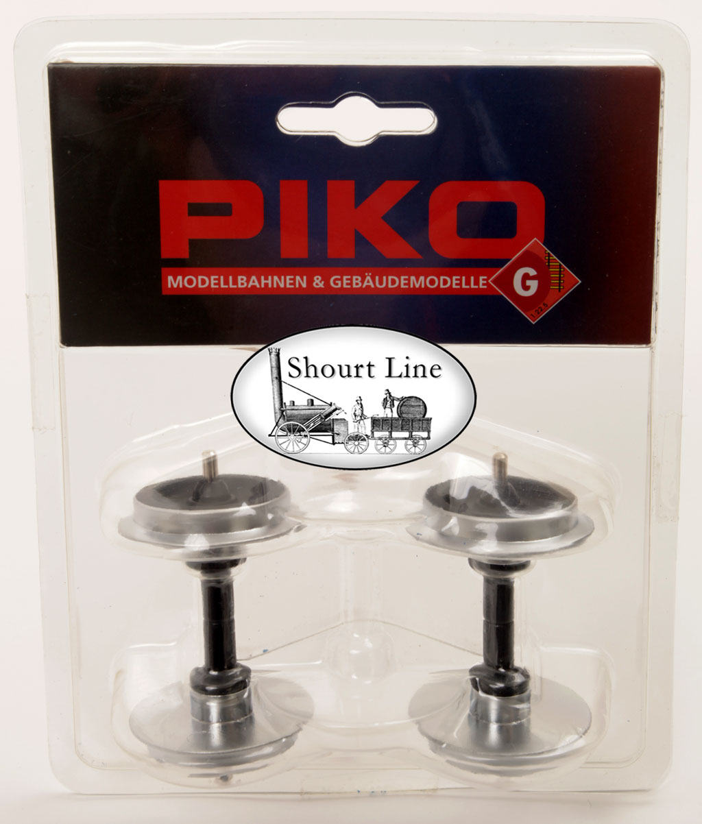 G SCALE LGB OK PIKO 36164 Chrome Plated 30mm Metal Wheelset Package