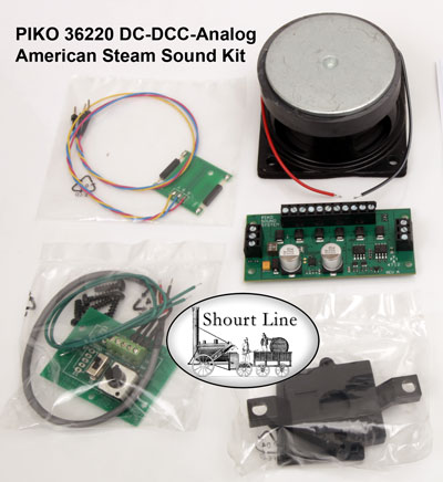 PIKO 36220 DC-DCC-Analog American Steam Sound Motor Decoder Kit parts of kits