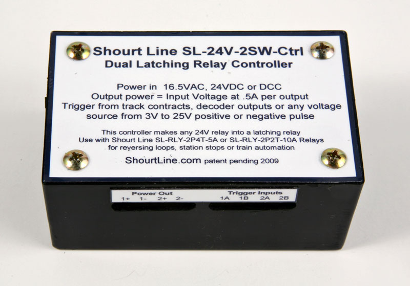 SL-24V-2SW-Ctrl Dual Latching Relay Controller Top View