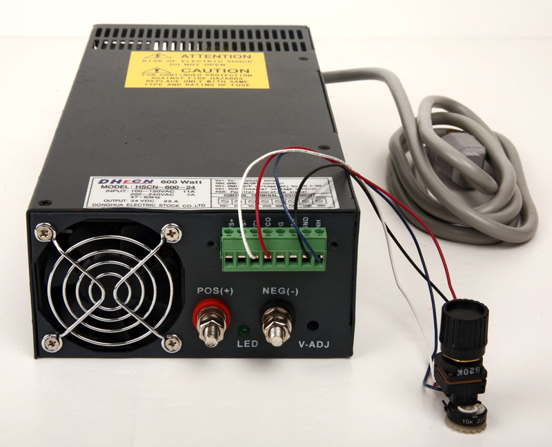 SL-600-24-1-25 Part No.: 5112425 24 Volt Pure DC 25 Amp 600 Watt Regulated Power Supply