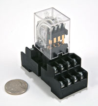 SL-RLY-2P4T-5A-24VDC Relay and socket